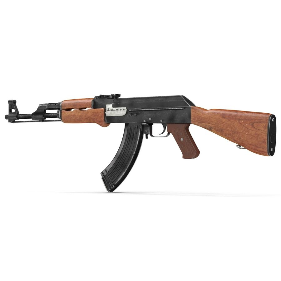 Assault Rifle AK 47 royalty-free 3d model - Preview no. 5