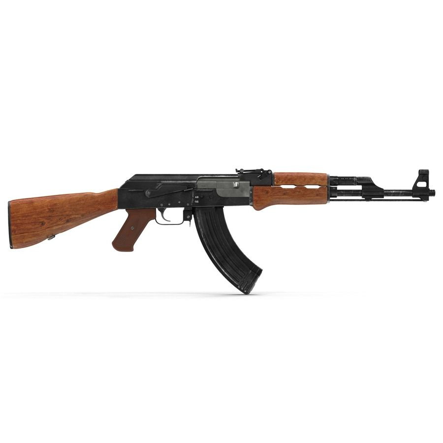 Assault Rifle AK 47 royalty-free 3d model - Preview no. 7