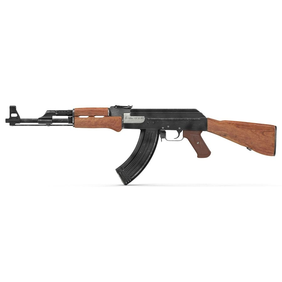 Assault Rifle AK 47 royalty-free 3d model - Preview no. 8