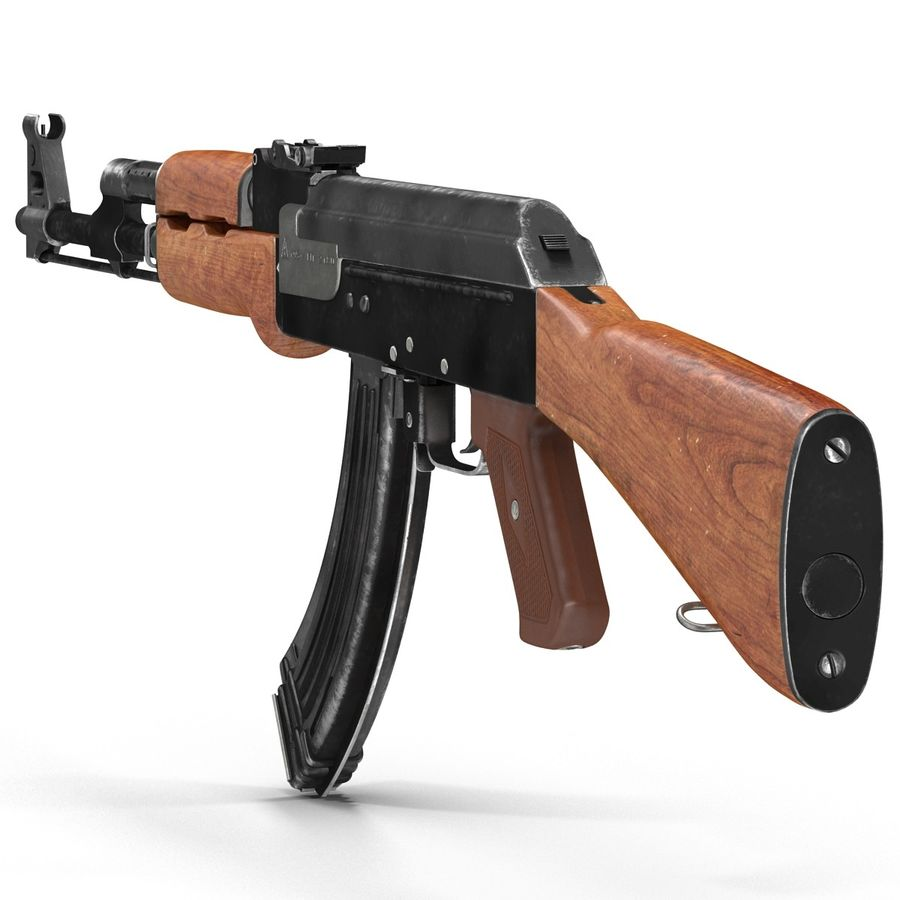 Assault Rifle AK 47 royalty-free 3d model - Preview no. 10
