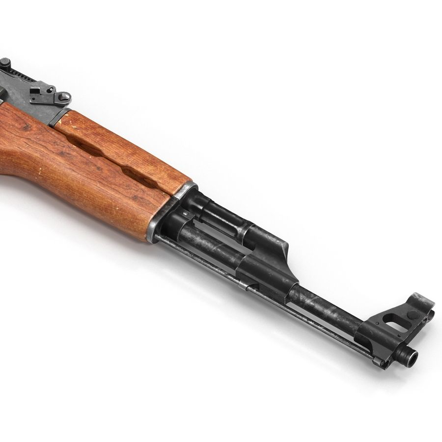 Assault Rifle AK 47 royalty-free 3d model - Preview no. 15