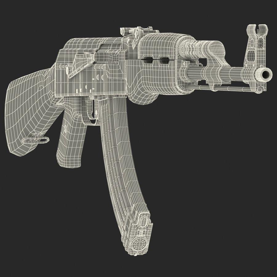 Assault Rifle AK 47 royalty-free 3d model - Preview no. 29