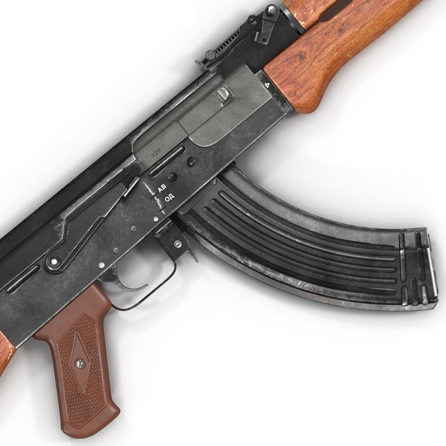 Assault Rifle AK 47 royalty-free 3d model - Preview no. 16