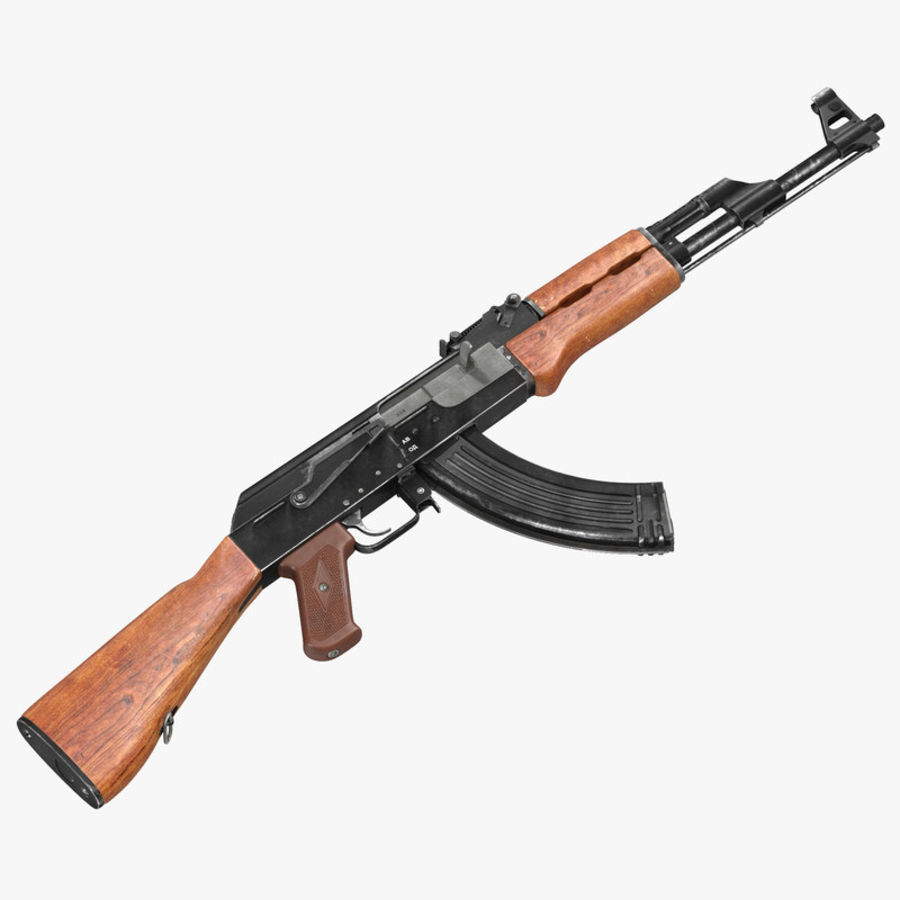 Assault Rifle AK 47 royalty-free 3d model - Preview no. 1