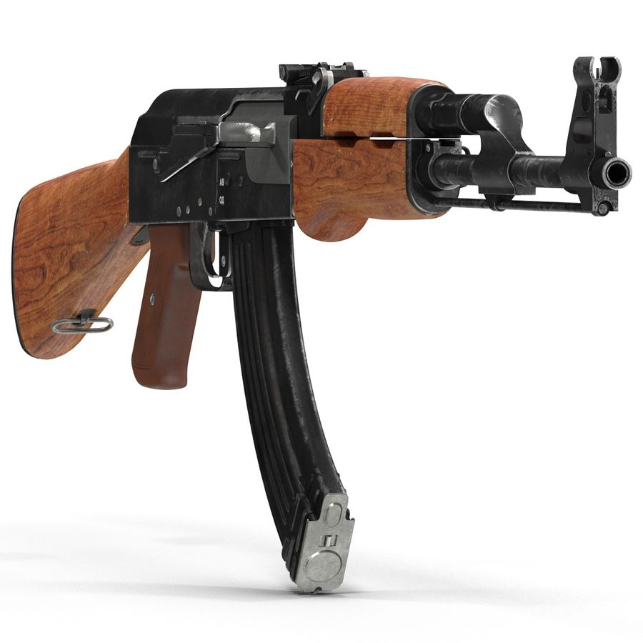 Assault Rifle AK 47 royalty-free 3d model - Preview no. 9