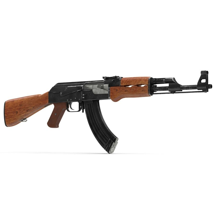 Assault Rifle AK 47 royalty-free 3d model - Preview no. 3