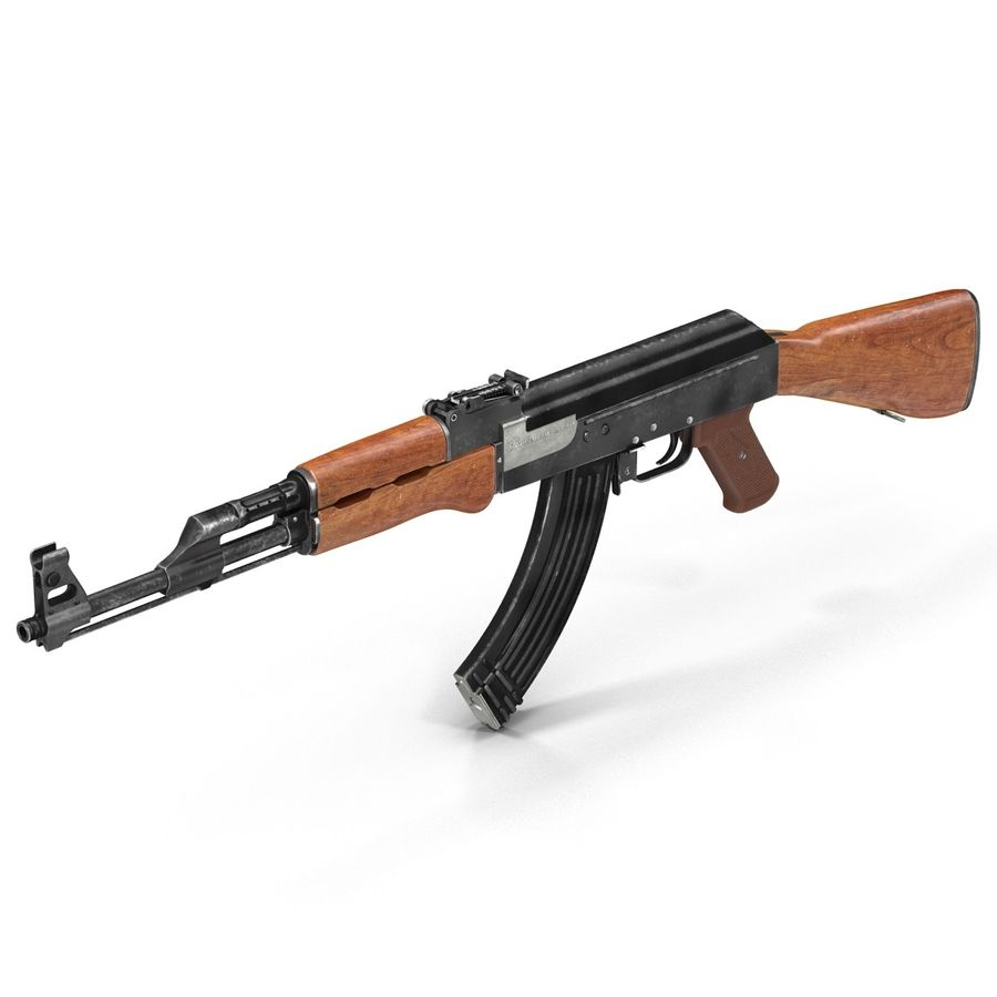 Assault Rifle AK 47 royalty-free 3d model - Preview no. 6