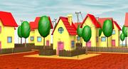 Cartoon Town 3d model