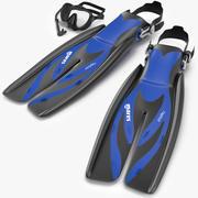 Коллекция подводного плавания 3d model