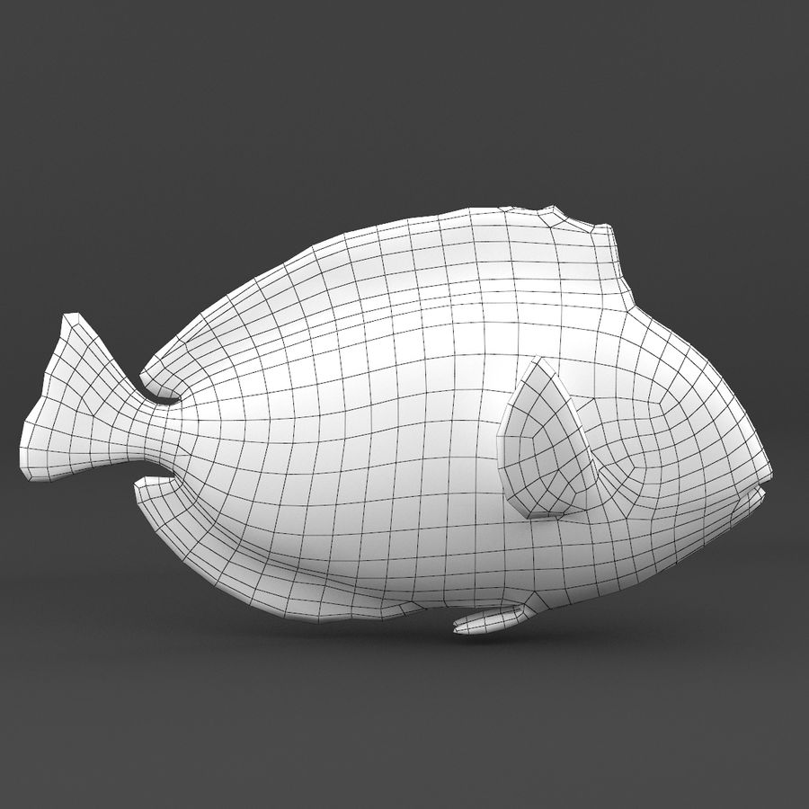 coral reef and fishes royalty-free 3d model - Preview no. 37