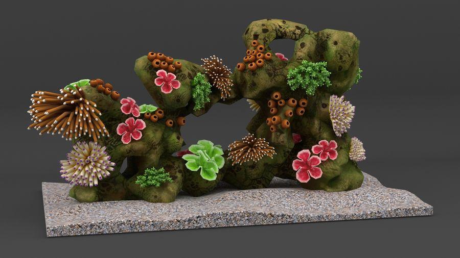 koraalrif en vissen royalty-free 3d model - Preview no. 2