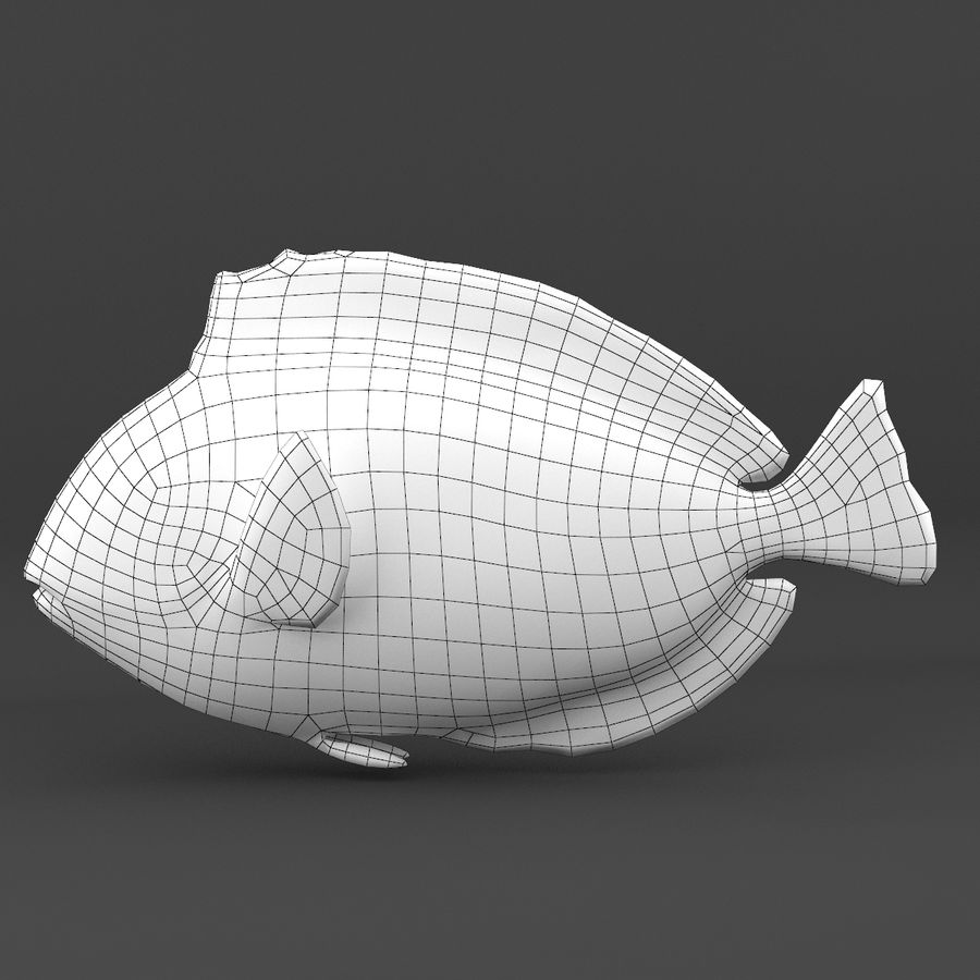 coral reef and fishes royalty-free 3d model - Preview no. 53