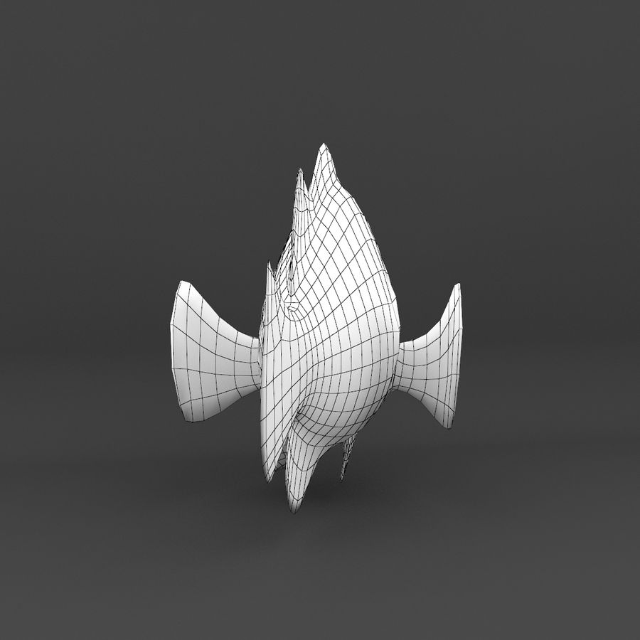 coral reef and fishes royalty-free 3d model - Preview no. 63