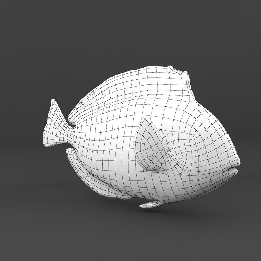 coral reef and fishes royalty-free 3d model - Preview no. 33