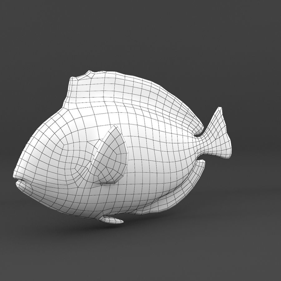 coral reef and fishes royalty-free 3d model - Preview no. 55