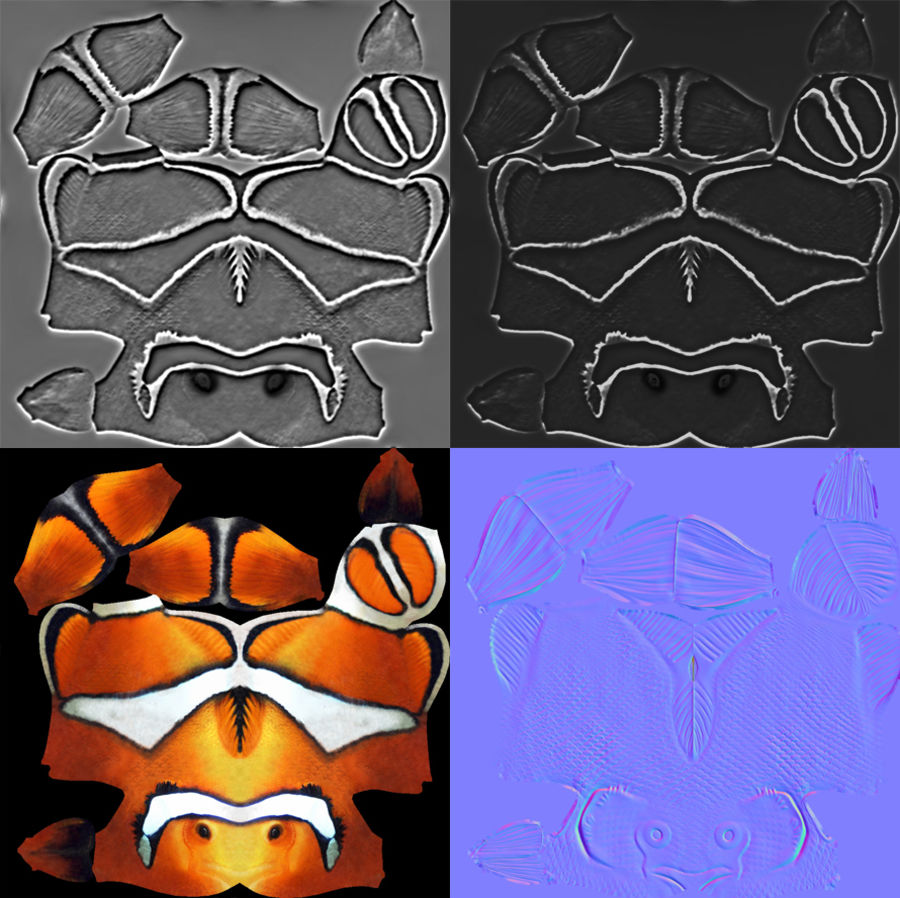 coral reef and fishes royalty-free 3d model - Preview no. 86