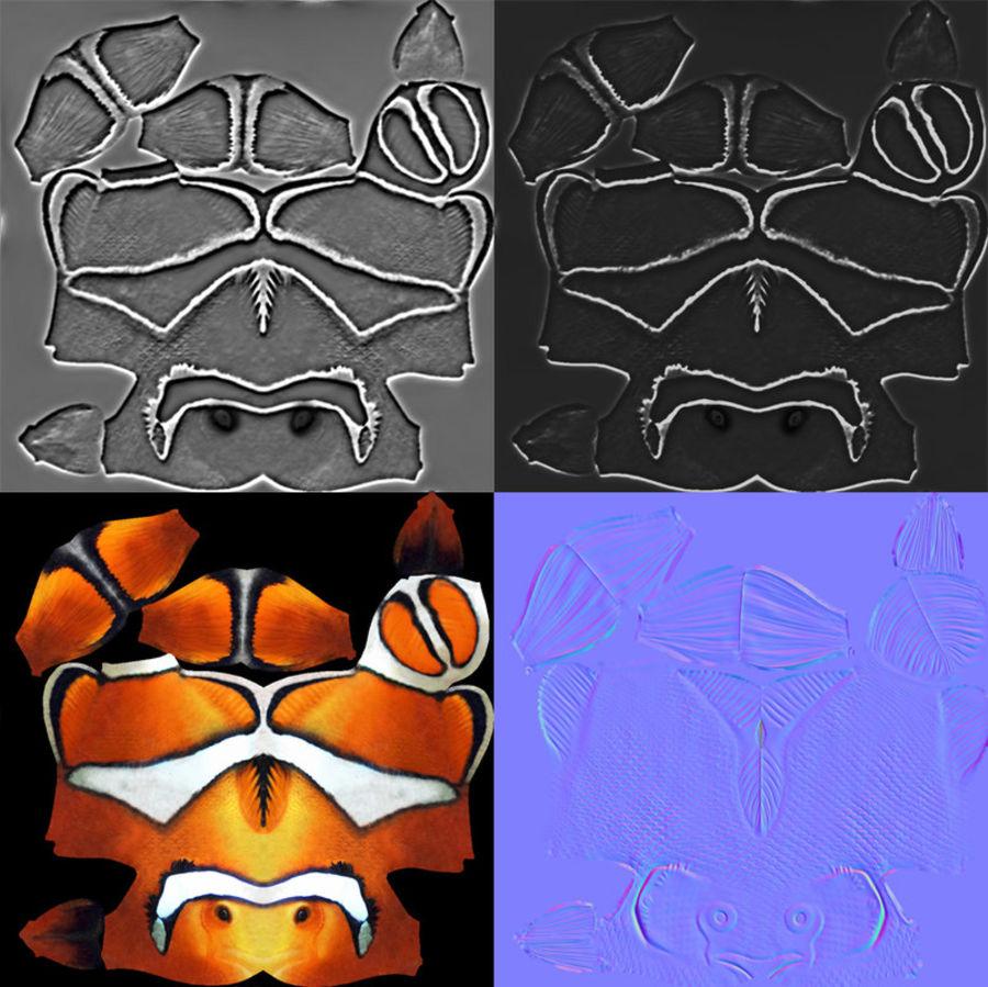 koraalrif en vissen royalty-free 3d model - Preview no. 86