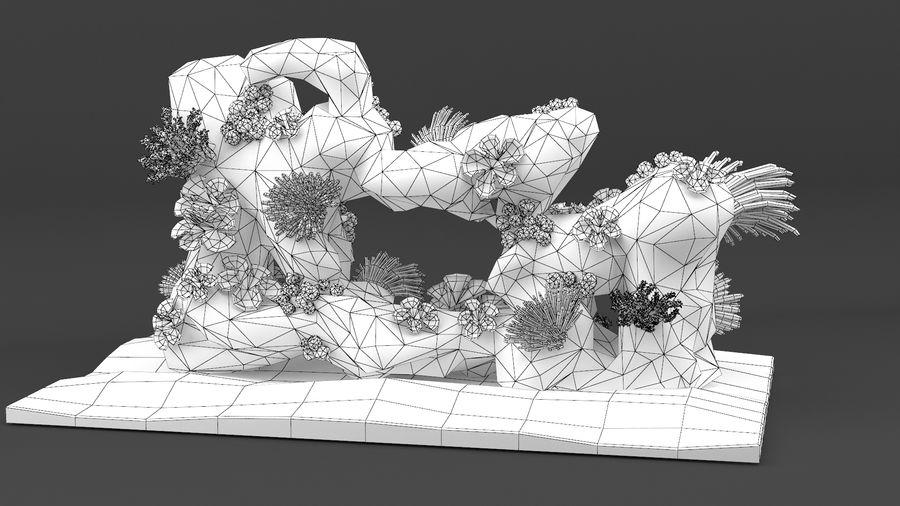 koraalrif en vissen royalty-free 3d model - Preview no. 22