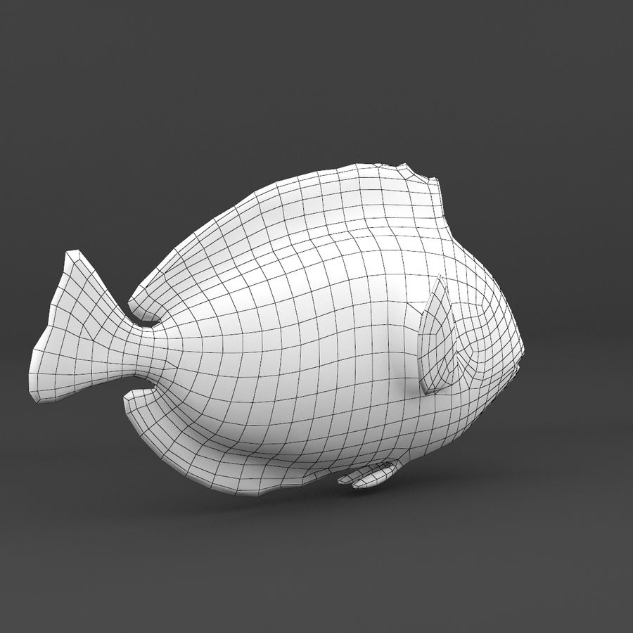 coral reef and fishes royalty-free 3d model - Preview no. 40