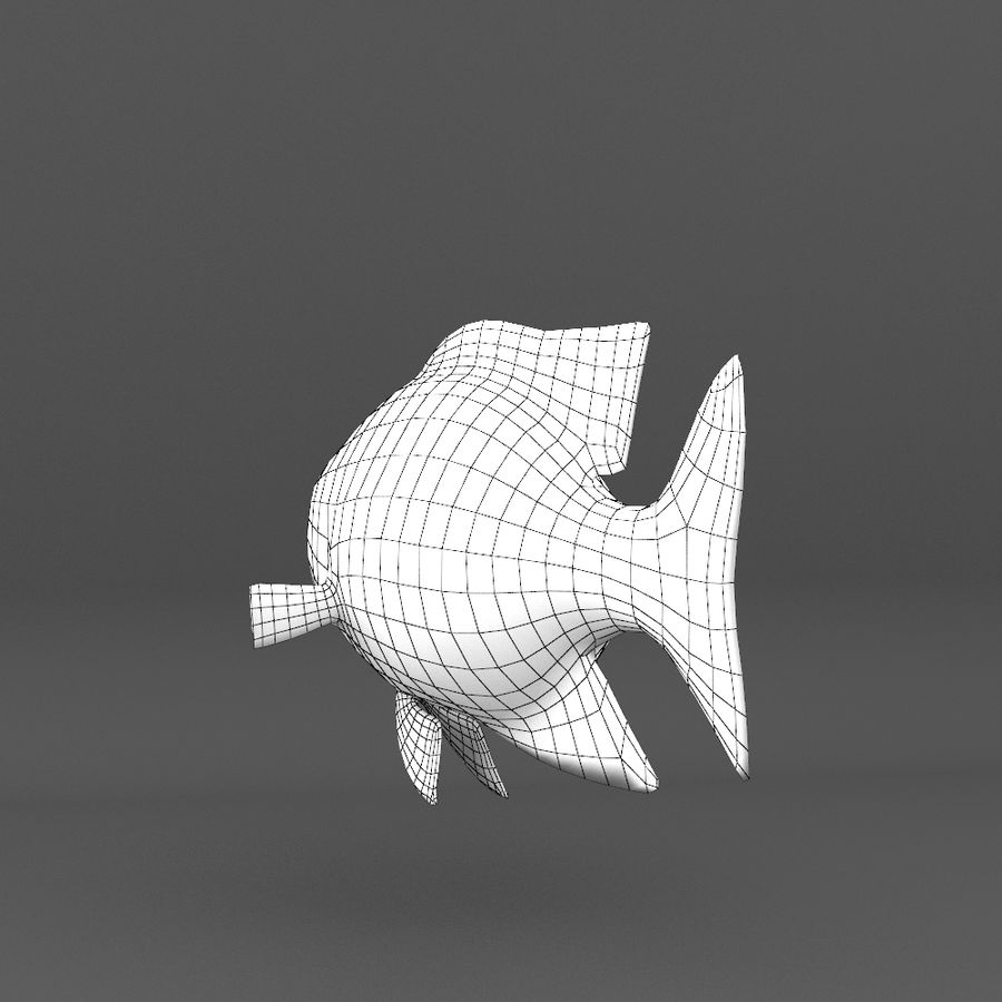 coral reef and fishes royalty-free 3d model - Preview no. 102