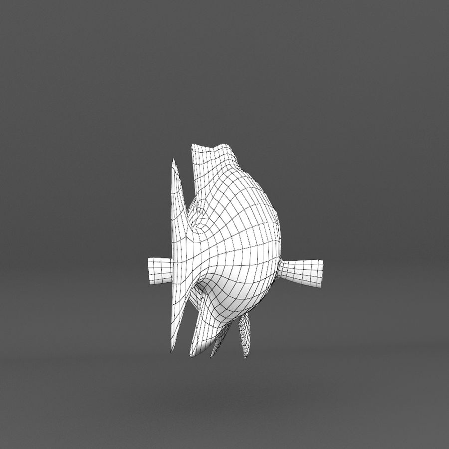coral reef and fishes royalty-free 3d model - Preview no. 101