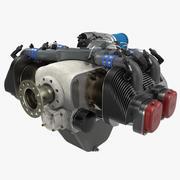 活塞飞机发动机ULPower UL260i 2 3D模型 3d model