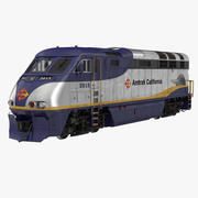 Diesel Electric Locomotive F59 PHI Amtrak 3D Model 3d model