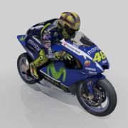 Valentino Rossi Yamaha modelo 3d