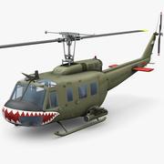 ベルUH-1Dベトナム 3d model