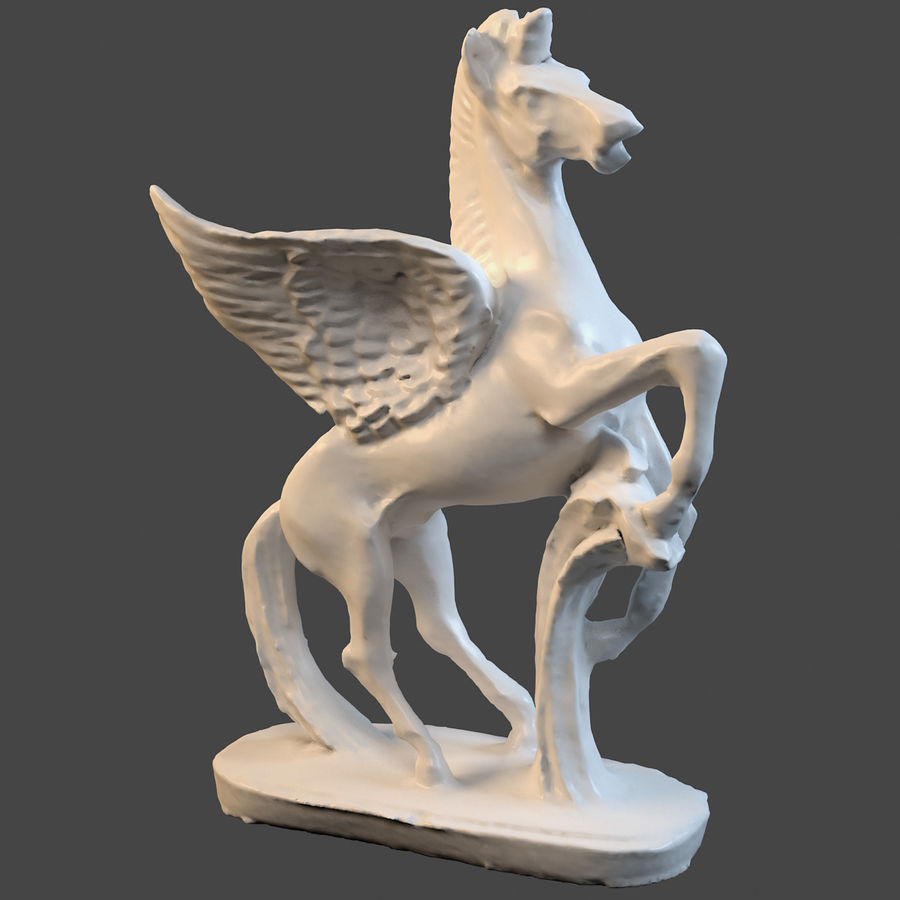 Пегас royalty-free 3d model - Preview no. 2