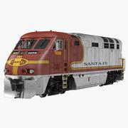 Diesel Electric Locomotive F59 PHI Santa Fe 3d model