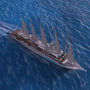 Sails Cruise Ship 3d model