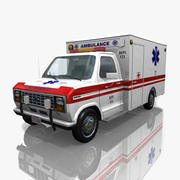 Ford Econoline 150 Van Ambulance 3d model