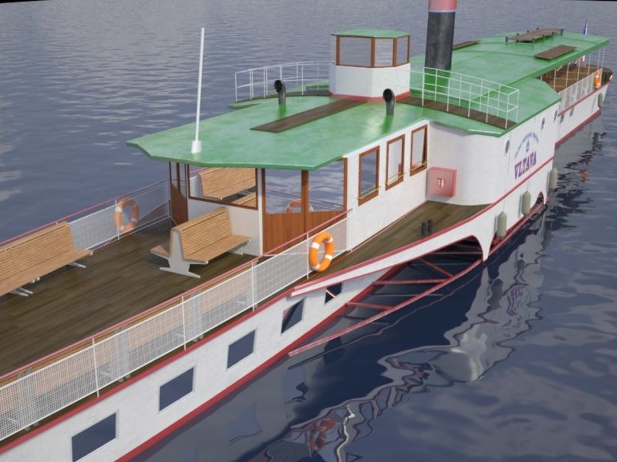 Czech cruise boat Vltava royalty-free 3d model - Preview no. 4