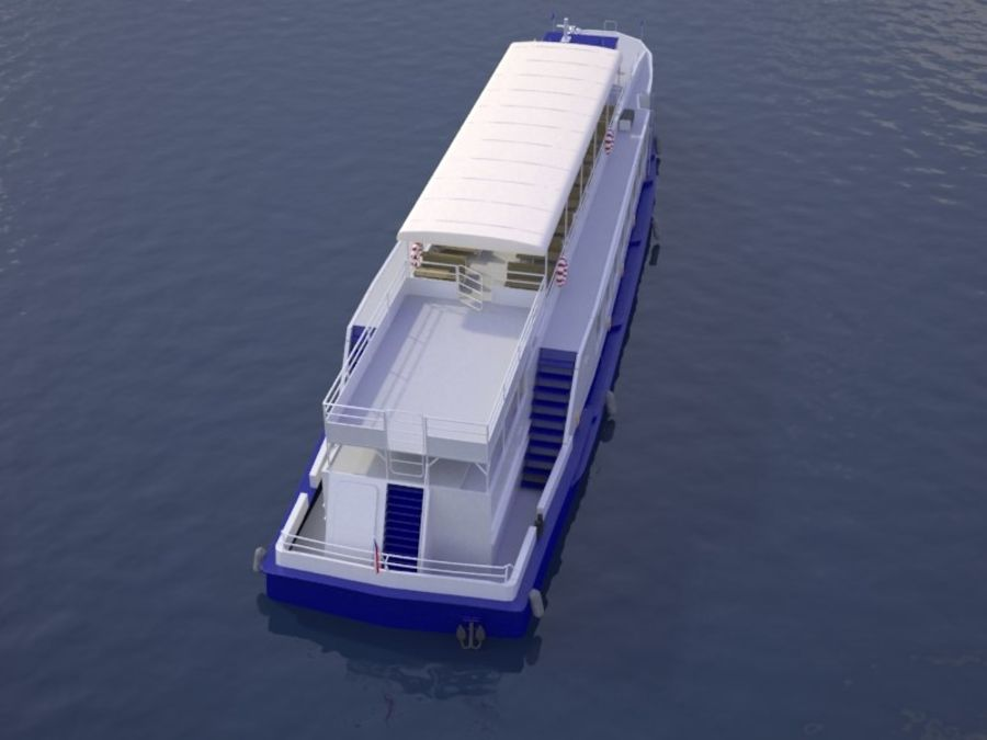 Czech cruise boat Poseidon royalty-free 3d model - Preview no. 7