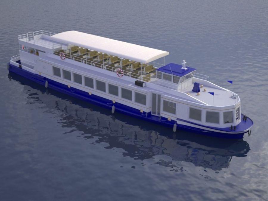 Czech cruise boat Poseidon royalty-free 3d model - Preview no. 9