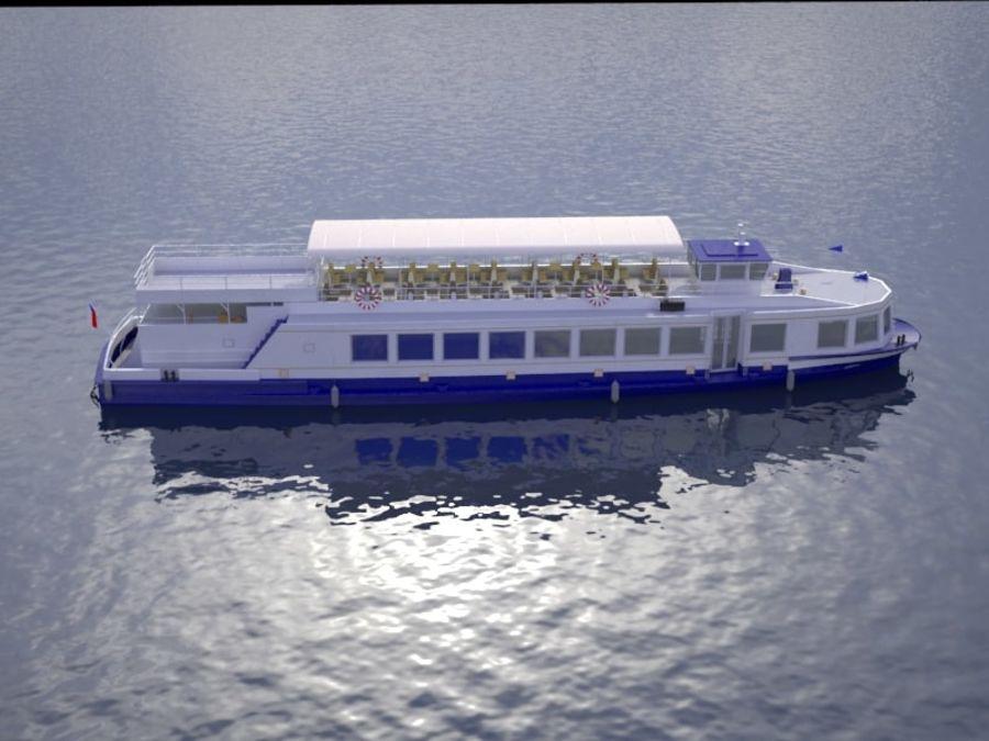 Czech cruise boat Poseidon royalty-free 3d model - Preview no. 8