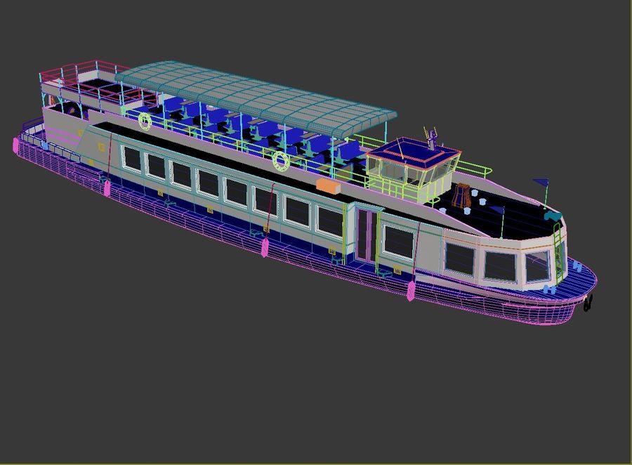 Czech cruise boat Poseidon royalty-free 3d model - Preview no. 10