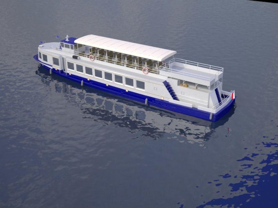 Czech cruise boat Poseidon royalty-free 3d model - Preview no. 5