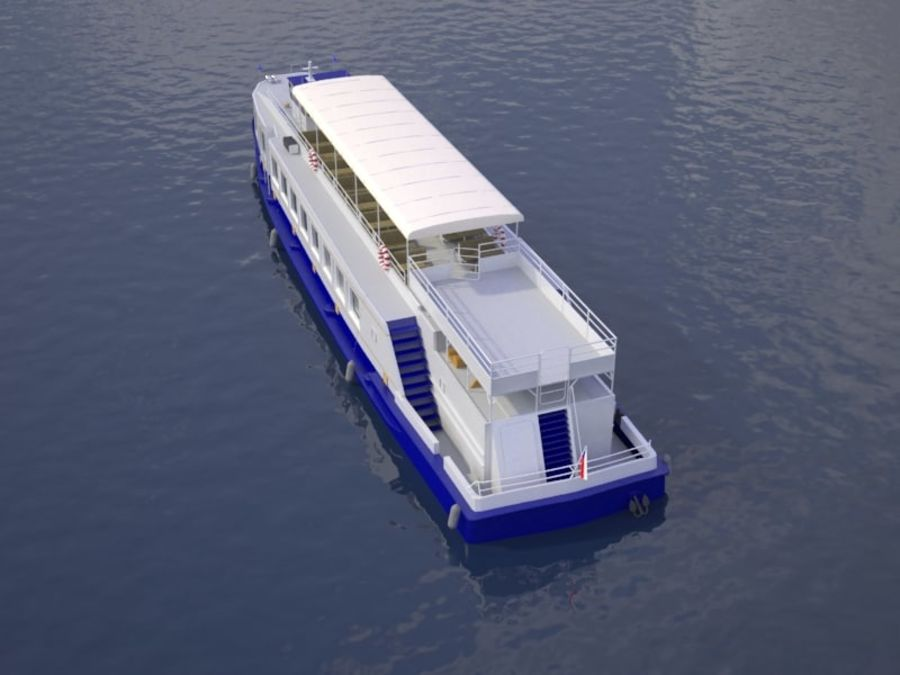Czech cruise boat Poseidon royalty-free 3d model - Preview no. 6