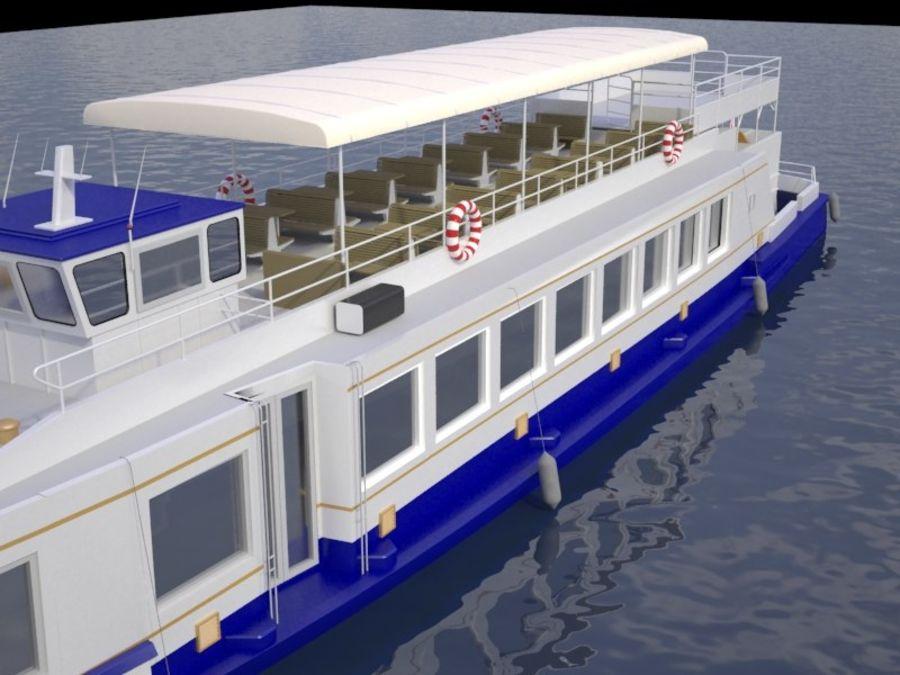Czech cruise boat Poseidon royalty-free 3d model - Preview no. 4