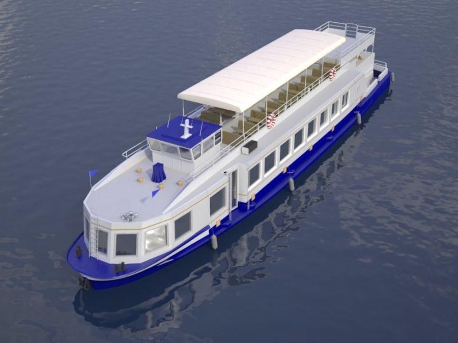 Czech cruise boat Poseidon royalty-free 3d model - Preview no. 3