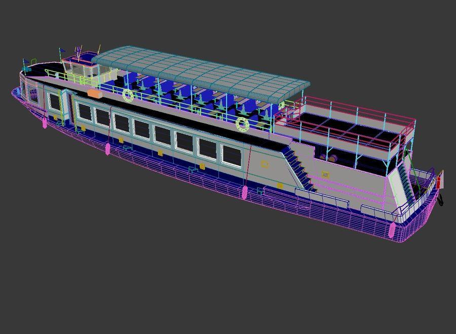 Czech cruise boat Poseidon royalty-free 3d model - Preview no. 11