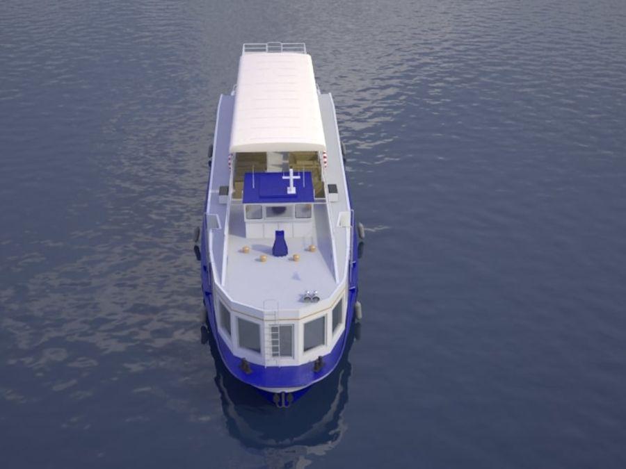 Czech cruise boat Poseidon royalty-free 3d model - Preview no. 2
