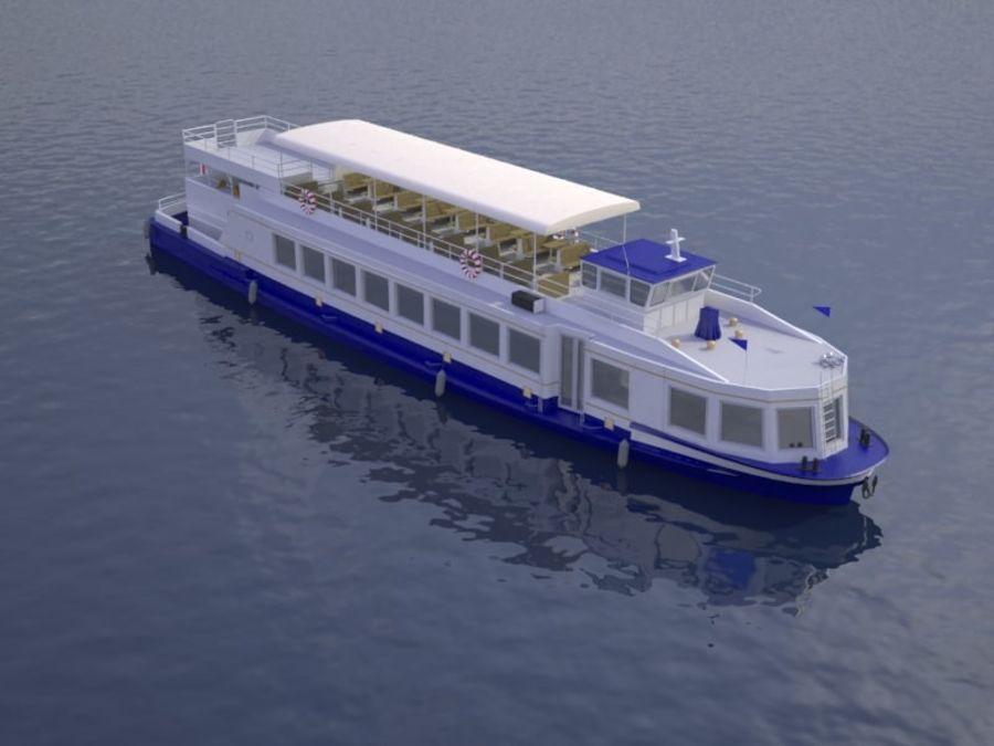 Czech cruise boat Poseidon royalty-free 3d model - Preview no. 1