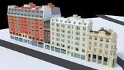 Bloco de construção de Londres de alto detalhe 3d model