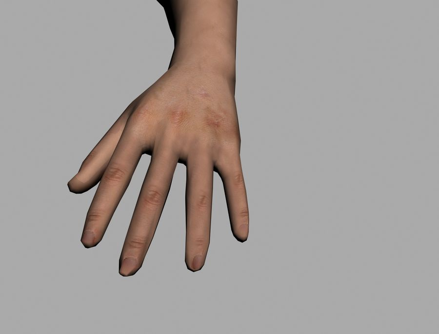 Lowpoly Hand royalty-free 3d model - Preview no. 3