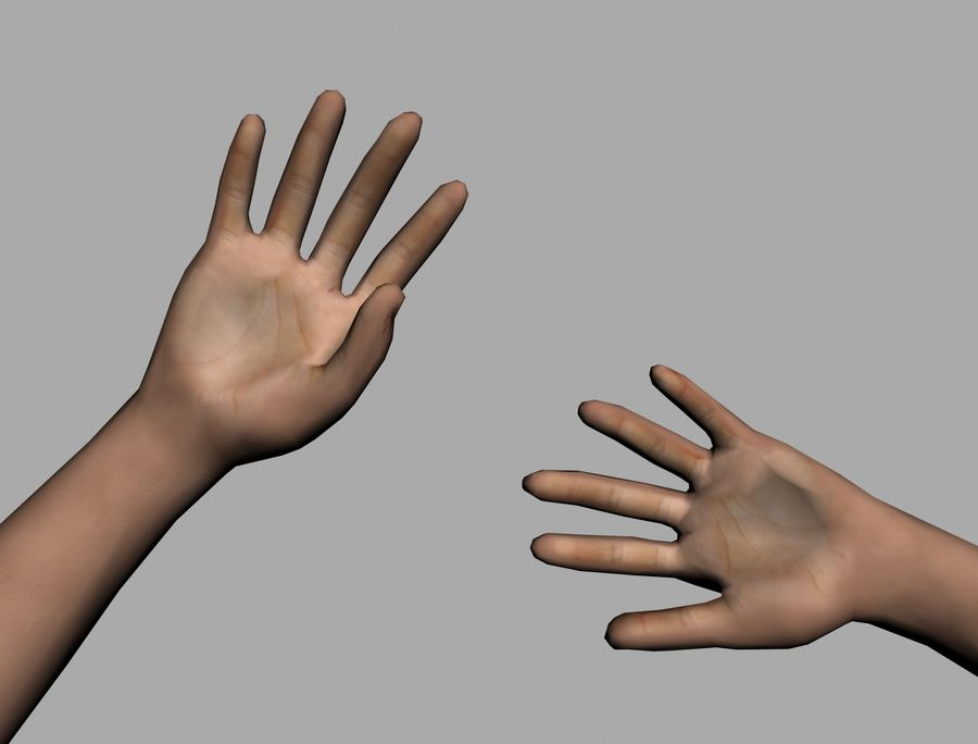 Lowpoly Hand royalty-free 3d model - Preview no. 5