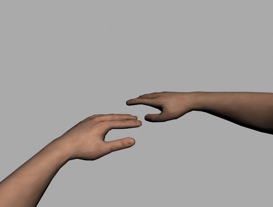 Lowpoly Hand royalty-free 3d model - Preview no. 4