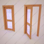 Porta con vetrata 3d model
